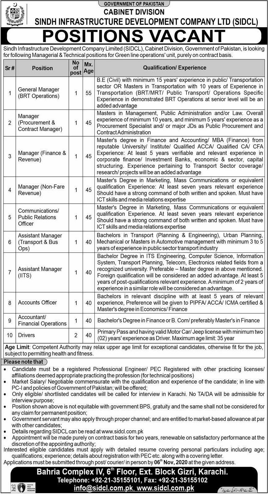 PIPFA Pass job For Accounts Officer in Sindh Infrastructure Development Company Ltd Govt of Pakstan in Karachi for Pakistan candidates -2020
